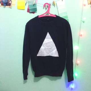Navy Triangle Sweater