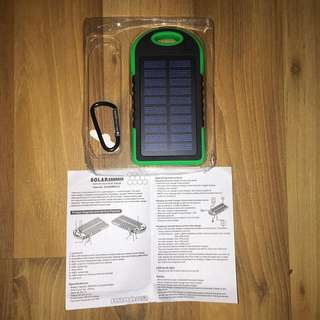 Solar Portable Charger In Green