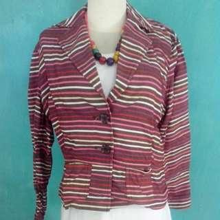 Cropped Striped Blazer (reprice)