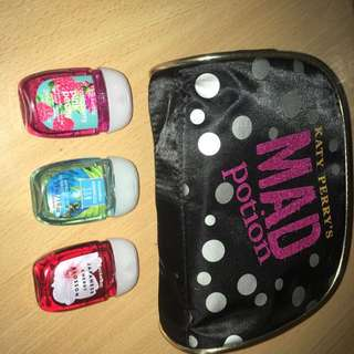 Katy Perry Mad Potion Bag And Bath And Body Works Hand Sanitisers