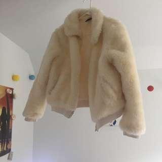 FLUFFY bomber jacket