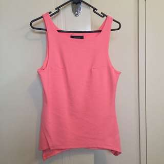 Oxford Singlet Strap Peplum Top