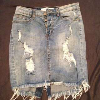 Sz 10 Supre Denim Skirt