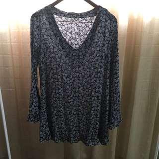 GLASSONS Long Sleeve Mini Dress Size 6