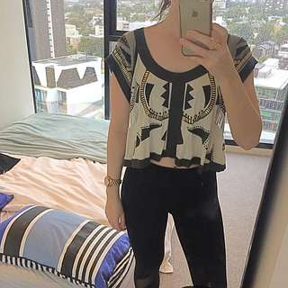 Sass And Bide Crop Top
