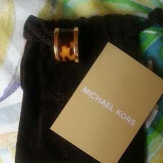 MICHAEL KORS Gold Plated Stainless Steel Tortoise Barrel Ring (Size 7)