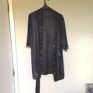 Silky Dressing Gown XS
