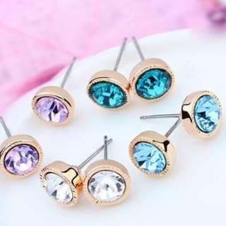 Crystal Earring stud - BRAND NEW - Blue Crystal Earring