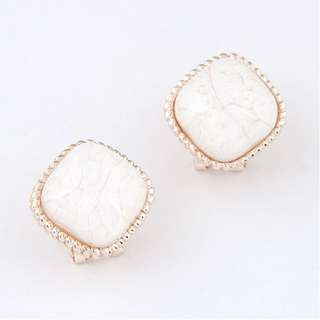 Earring Studs - BRAND NEW - White stone stud earrings