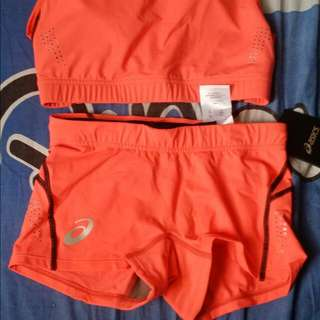 Authentic Asics  Sports Bra And Cyling Short