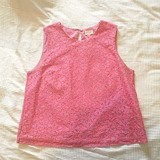 Gorman Pink Sleeveless Top Size 12