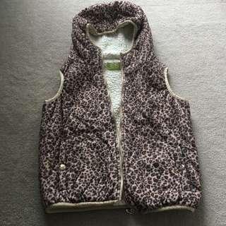 Leopard Paint sleeveless Jacket