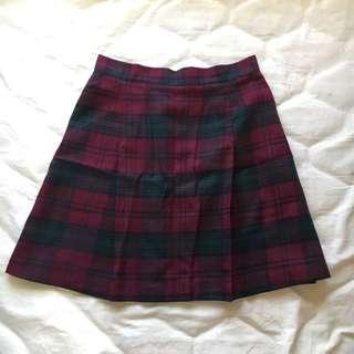 tartan woolen skirt