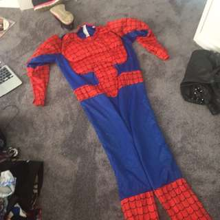 spider-man dress up suit with puffed out chest