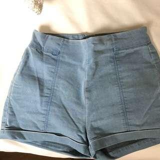 Denim Look Shorts