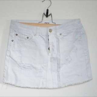 ASOS White Denim Mini Skirt