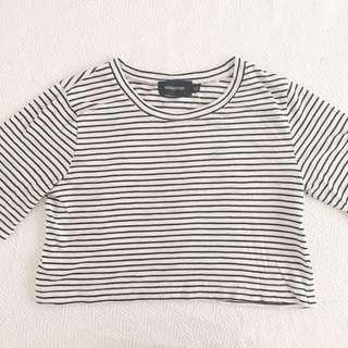 Stripey Minkpink Crop Shirt