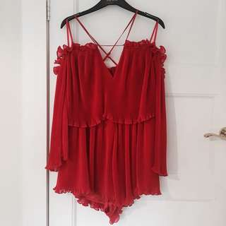 ALICE McCALL // Red Playsuit // CURRENT SEASON