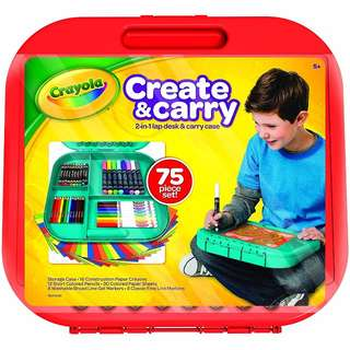 BNIP: Crayola Create 'n Carry Case, Portable Art Tools Kit, Over 75 Pieces, Great Gift