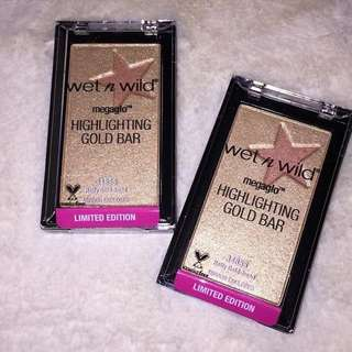 WET AND WILD GOLD BAR HIGHLIGTER