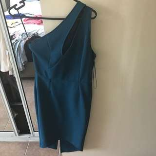 Runaway Party Dress Teal (size 8/S)