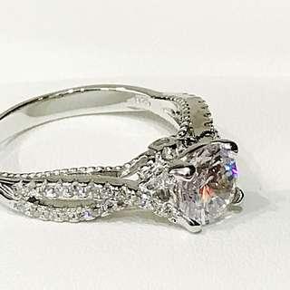 Kekilli Jewellery Sterling Silver Engagement Ring