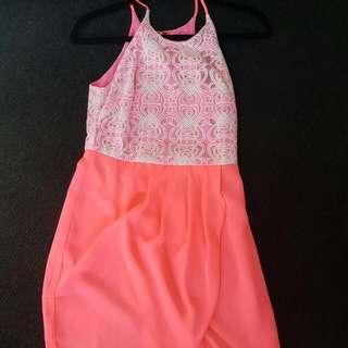 Fluro Pink Dress