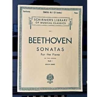 Piano Book - Beethoven Sonata Book 1 & 2