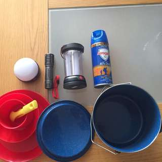 Set for camping outdoor