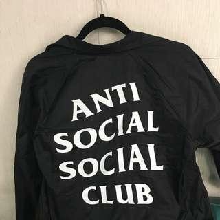 AntiSocialSocialClub 黑色教練外套 S