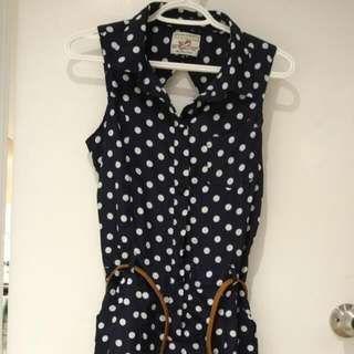 Parisan Short Jumpsuit Pokadot