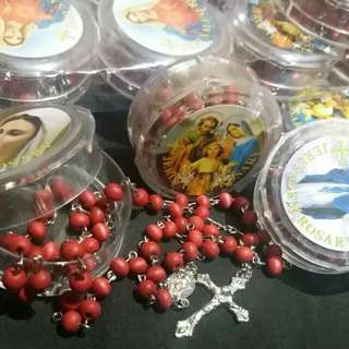 Rose petal scent Rosary on hand from Jerusalem