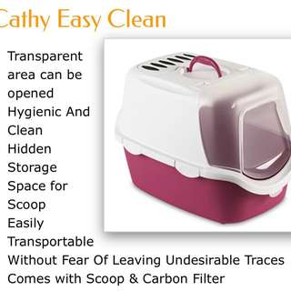 Cat Litter Box, comes with Scoop And Filter.