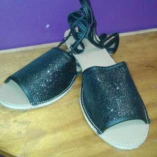Mirrou Size 9 Black Sandal Open Toe Gladiator Style...Brand New REP $24.90