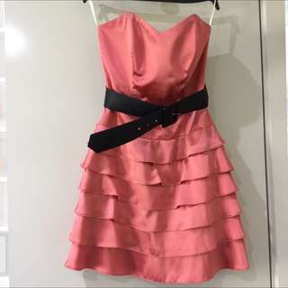 Review Dress - Pink Silk - Size 8