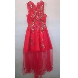 Red Imlek Dress