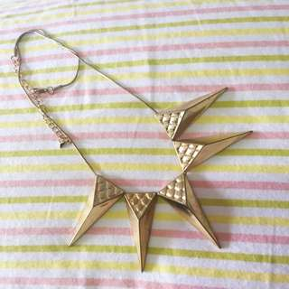Diva Gold Triangle Necklace