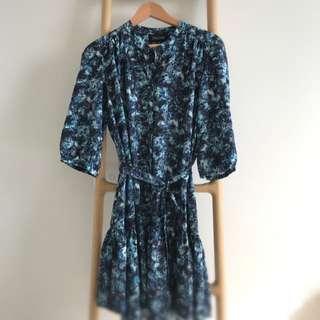 Saloni Floral Silk Dress Sz10