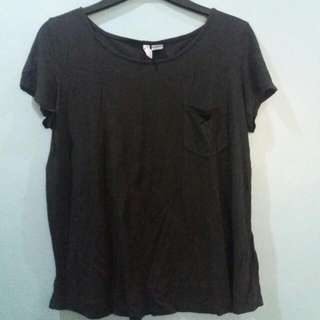 BLACK H&M DIVIDED TOP