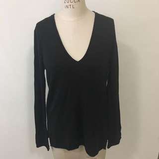 Black Jumper With Bell Sleeves Size Medium