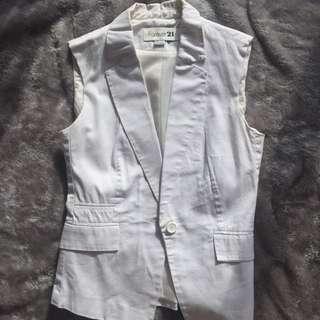 F21 White Vest