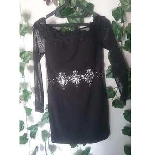 2 in 1 black dress