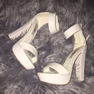 White Heels Never Worn