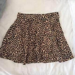 Leopard Print Skirt Princess Highway Rockabilly Pin Up Dangerfield Goth Skater Skirt