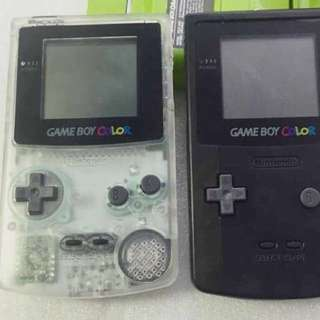 Authentic Nintendo Gameboy Color Console Colour Transparent Black