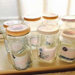🚚 義賣-美麗手作 蝶古巴特瓶蓋-玻璃罐