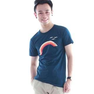 [SALE] Rainbow T Shirt - Navy