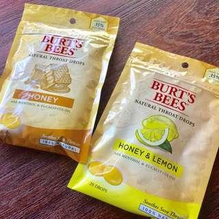 [預購❤️美國代購區]burt's bees蜂蜜糖❤對你沒看錯!好吃到不行~~ 檸檬/蜂蜜檸檬 兩種口味