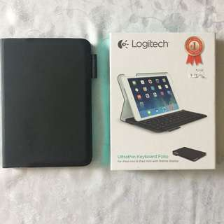iPad Mini Logitech Ultra thin Keyboard Folio
