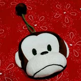 含運,可愛猴頭零錢鑰匙包